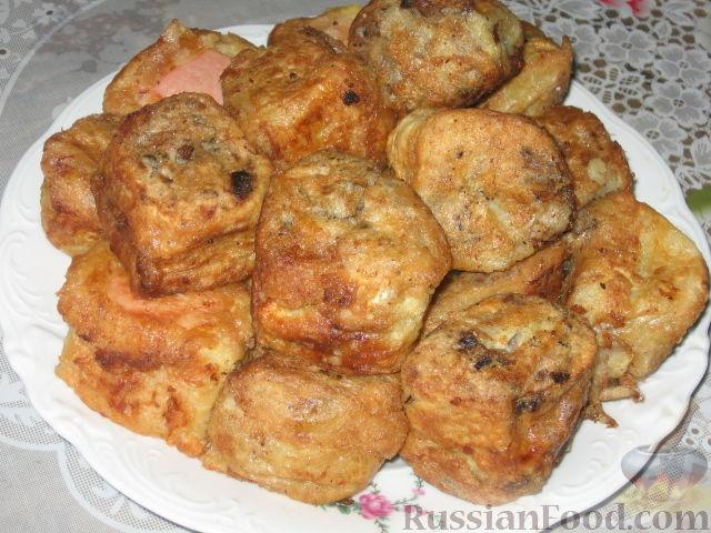 Рецепт Ленивые пирожки из вафельных рулетов