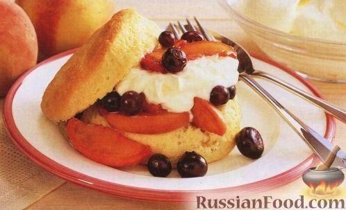 Рецепт Печенье с черникой и персиками