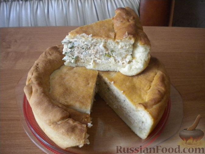 Рецепт Пирог с рыбой и рисом