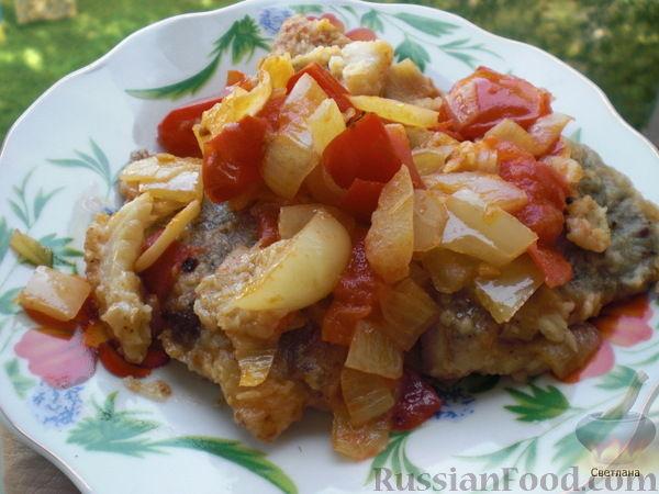 Рецепт Филе рыбы с овощами