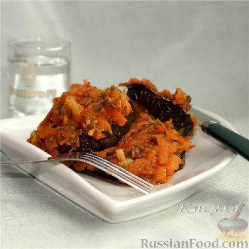 Рецепт Острая закуска из баклажанов