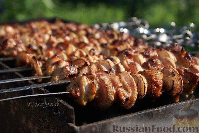 Рецепт Шашлык из курицы в грейпфруте