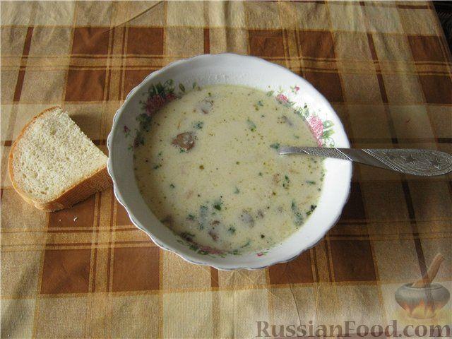 суп из шампиньонов с картофелем и сыром рецепт
