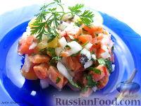 Фото к рецепту: Севиче из форели с чили и лаймом