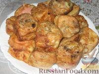 Фото к рецепту: Ленивые пирожки из вафельных рулетов