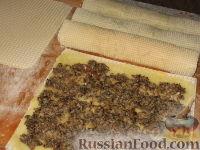Фото приготовления рецепта: Ленивые пирожки из вафельных рулетов - шаг №2