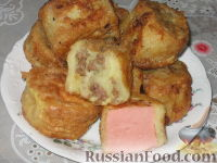Фото приготовления рецепта: Ленивые пирожки из вафельных рулетов - шаг №5