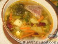 Фото к рецепту: Овощной суп с индейкой