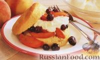 Фото к рецепту: Печенье с черникой и персиками