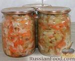 Фото к рецепту: Салат охотничий из зеленых помидор на зиму