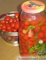 Фото к рецепту: Маринованные помидоры черри