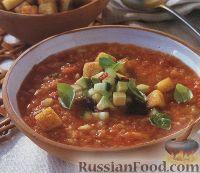 Фото к рецепту: Суп гаспачо с сальсой
