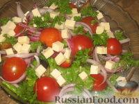 Фото к рецепту: Салат с баклажанами и брынзой