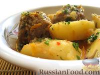 Фото к рецепту: Тефтели  с картошкой