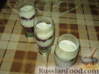 Фото к рецепту: Пудинг шоколадно-ванильный