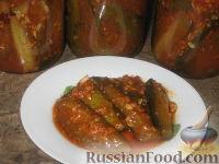 Фото приготовления рецепта: Огурцы в остром томатном соусе - шаг №6