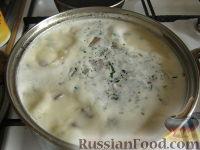 Фото к рецепту: Грибной суп с картофелем и сыром