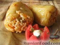 Фото к рецепту: Перец фаршированный постный