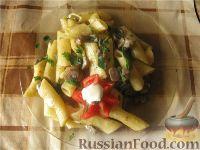 Фото к рецепту: Постная паста с грибами