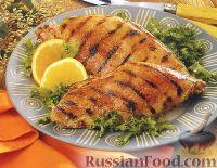 Фото к рецепту: Грудка индейки в горчично-медовом маринаде, жаренная на гриле