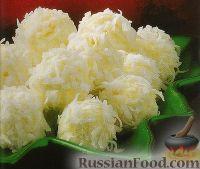 Фото к рецепту: Кокосовые шарики из ананасов со сливочным сыром