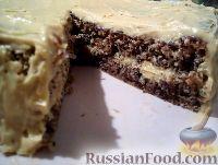 Фото к рецепту: Бисквитно-ореховый торт