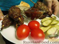 Фото к рецепту: Люля-кебаб на шпажке