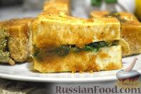 Фото к рецепту: Теплая закуска из тофу, со шпинатом
