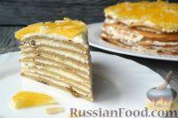 Рецепт: Блинный торт с творогом на