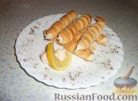 Фото к рецепту: Трубочки с сырной начинкой
