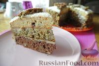 """Фото к рецепту: Нежнейший торт """"Сказка"""" из трех разных коржей"""