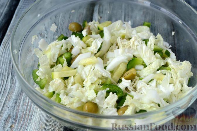Рецепт салата с чипсами и пекинской капустой