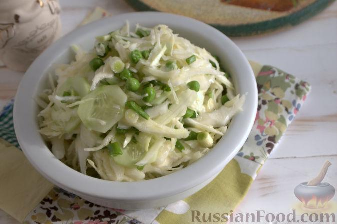 салат из редьки и горошка рецепт
