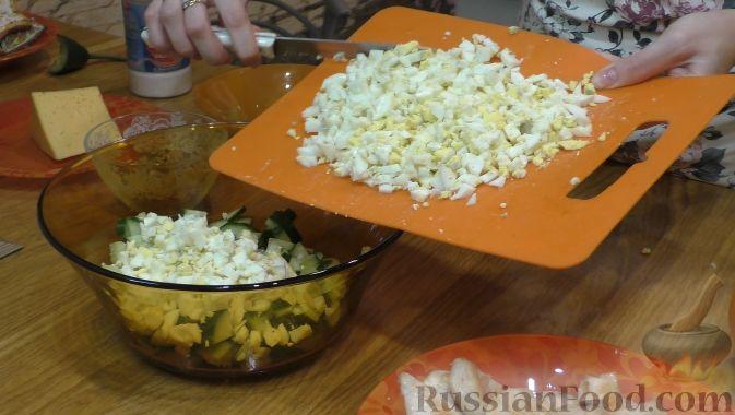 Фото приготовления рецепта: Салат из курицы с апельсинами - шаг №3