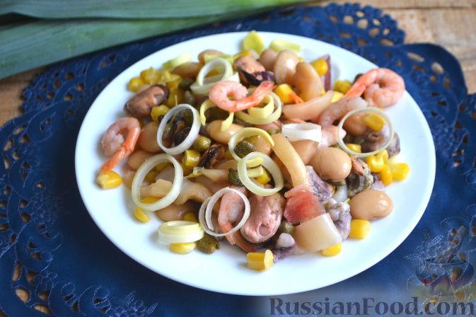 Салаты из морепродуктов из фото