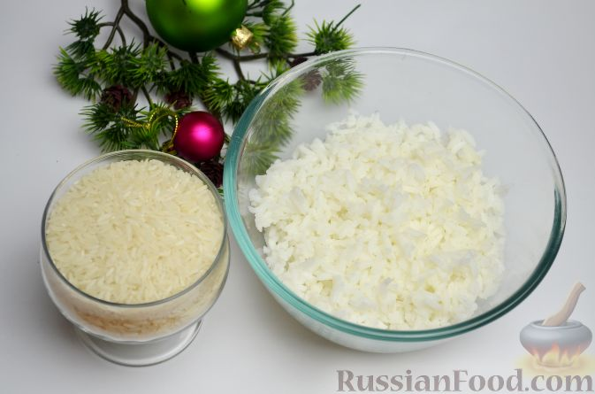 Салат копченая скумбрия рис