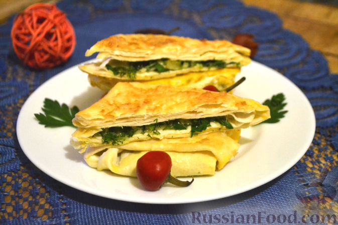 Конвертики с сыром из армянского лаваша