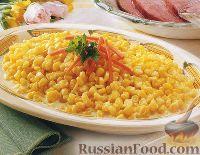Фото к рецепту: Кукуруза в сливочном соусе