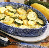 Фото к рецепту: Кабачки с сыром (в духовке)