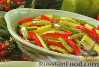Фото к рецепту: Болгарский перец и цуккини на гриле