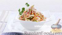 Фото к рецепту: Салат с кукурузой и колбасой