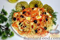 Фото к рецепту: Салат с курицей и макаронами