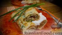 Фото к рецепту: Блинчики с сыром и зеленью
