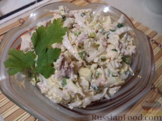Салат мясной из ресторана рецепт с фото