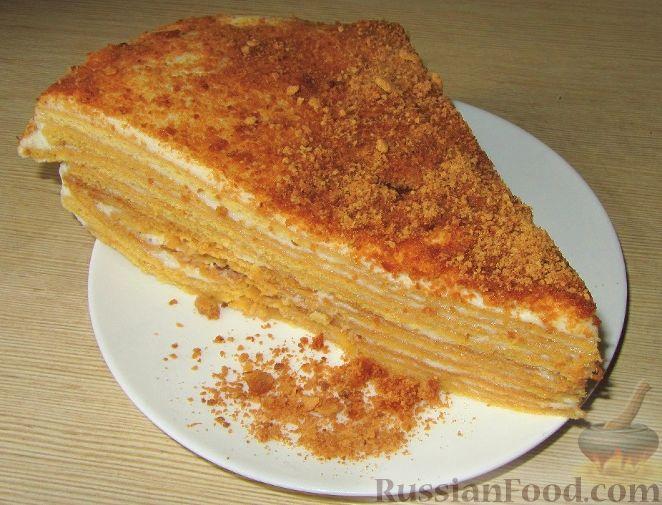 торт медовик со сметанным кремом рецепт приготовления