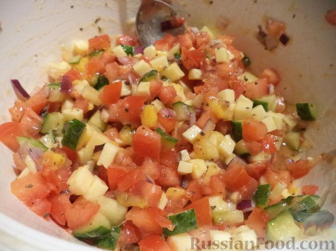 Фото приготовления рецепта: Яблочный штрудель из лаваша - шаг №12
