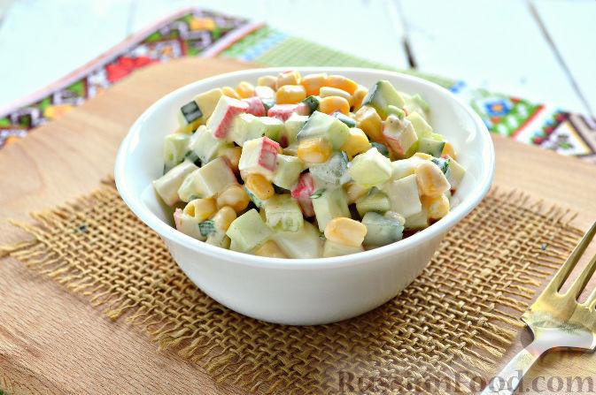фото рецепт салат с крабовыми палочками