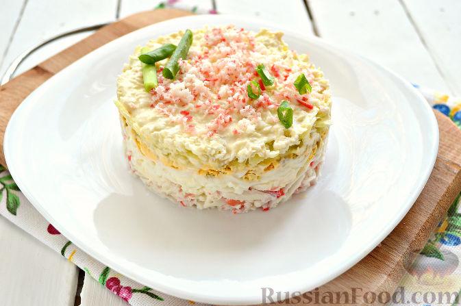 салат с крабовыми палочками сыром яблоком сыром