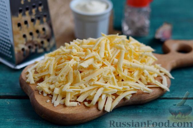 рецепт салата с огурцом и ветчиной и сыром фото