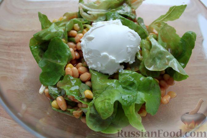 салат с фасолью и сухариками рецепт с сыром